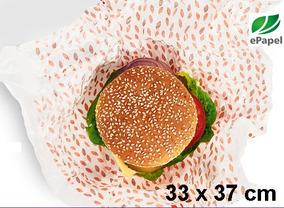 2.000 Papel Acoplado 33x37 Food Wrap Frios Lanches Hamburger