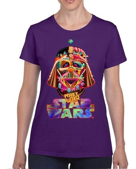 Playeras Star Wars Darth Vader Minimalista Colores Arte Pop