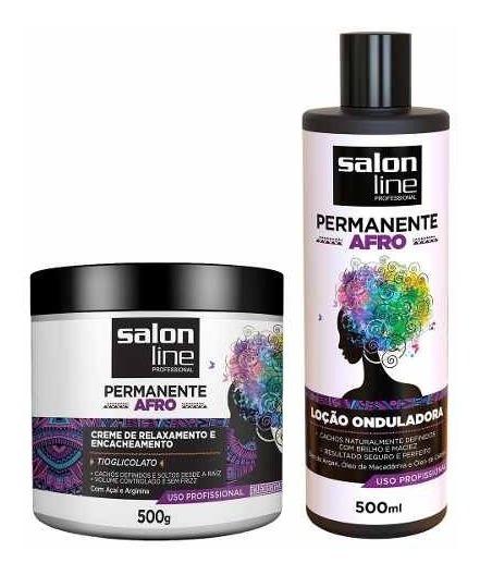 Kit Permanente Afro Salon Line 2 Produtos