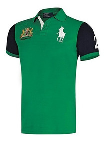 Playera Polo Hpc 3004 Color Verde Marino Caballero Pv