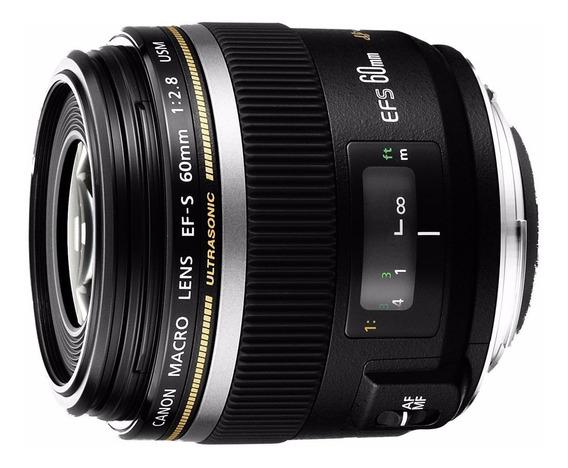 Objetiva Lente Canon Efs 60mm F/2.8 Macro Usm 12x Sem Juros
