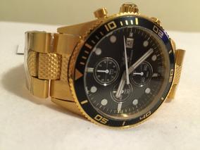 Relógio De Luxo Dourado Empório Armani Ar5857 Gold Original