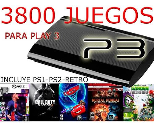 Pack De 3800 Juegos Ps3 Completos - Leer Antes!!!