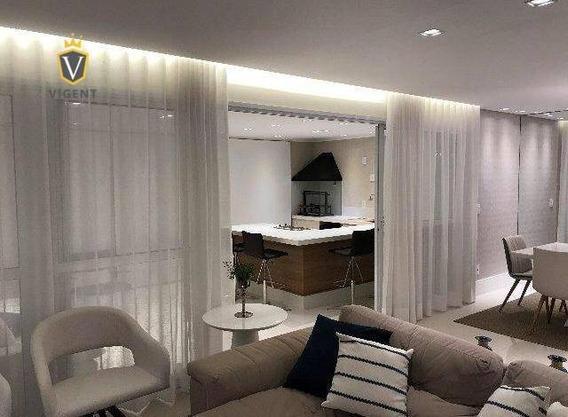 Lindíssimo Apartamento Arte Prime Em Jundiaí - 163 M², 3 Suítes, Varanda Gourmet, Ar Condicionado, Todo Reformado Com Acabamento De Primeira Linha! - Ap1149