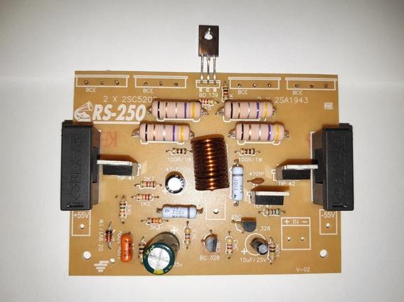 Placa Montada Amplificador Modelo Rs250 Sem As Saídas