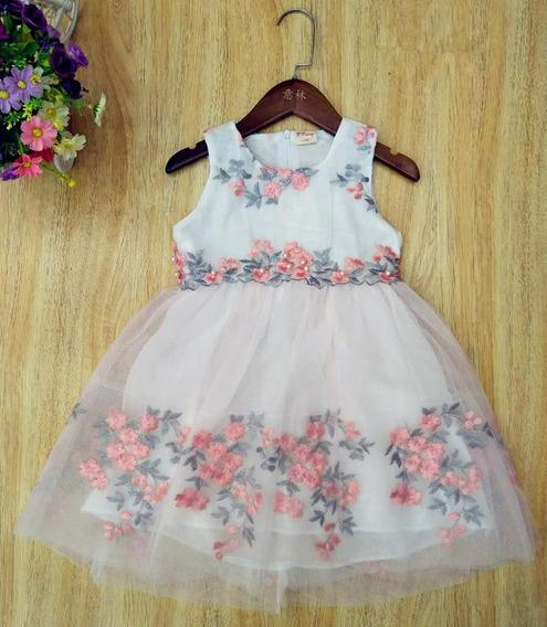 Vestido De Nena Fiestas Eventos Cumpleaños Talle 4 A 8 C8907