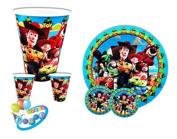 Toy Story Paq. 30 Vasos,30 Platos Woody, Buzz Kit Fiesta