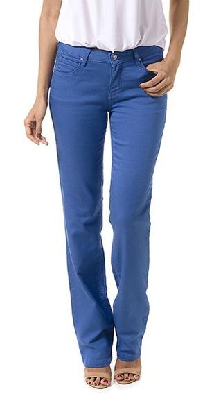 Calça Reta Judy Color Azul Fendi - Bloom Jeans