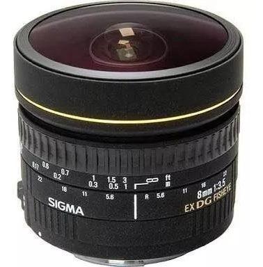 Lente Sigma 8mm F 3.5 Ex Dg P/ Canon (olho De Peixe)