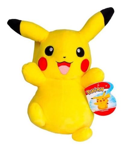 Imagem 1 de 3 de Pokémon Pelúcia 8'' Pikachu Wct Tomy