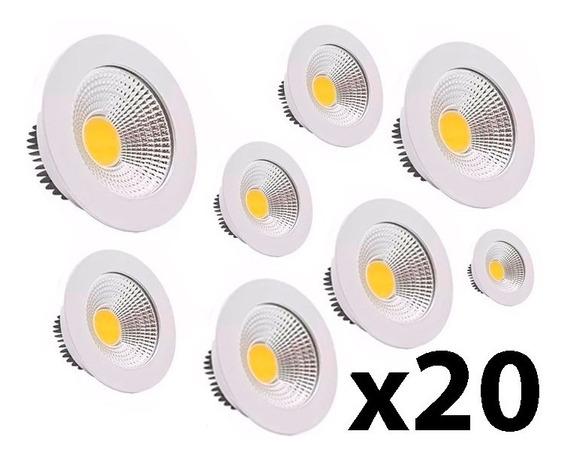 Kit 20 Spot Embutir Direcionável Com Led 5w Bivolt Frio