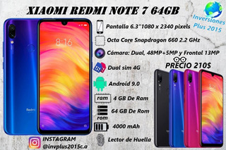 Telefono Xiaomi Redmi Note 7 4+64gb