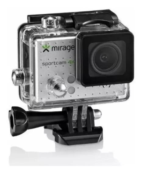 Câmera De Ação 4k Mirage Wi-fi E Cartão De Memória 16gb