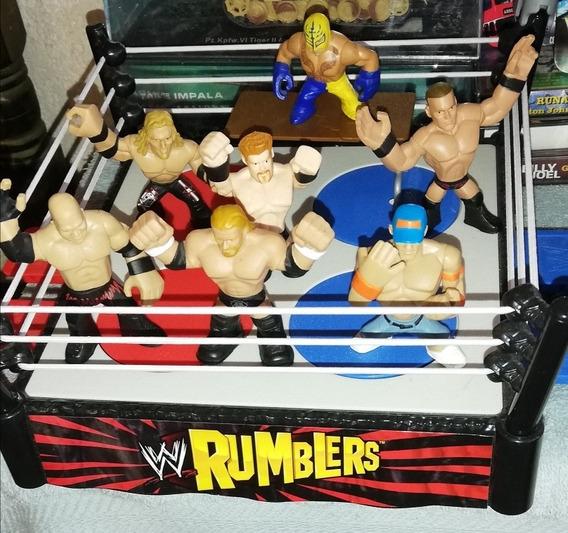 Wwe Rumblers Ring Y Figuras Incluidas