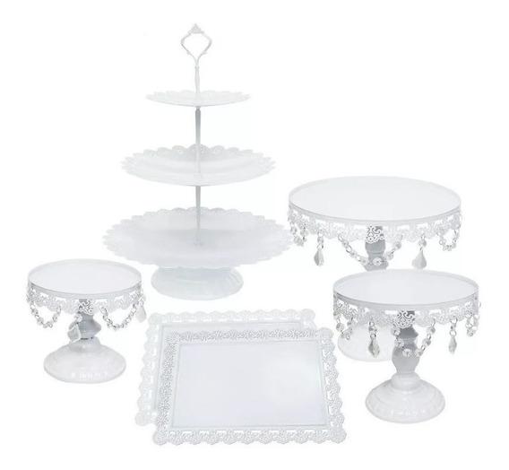 Set De Bases Decorativas Para Pastel & Cupcakes 6 Pcs Blanco