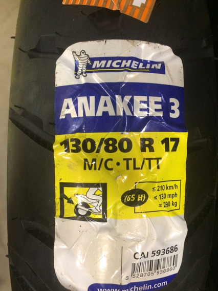 Pneu Michelin 130-80-17 Anakee 3