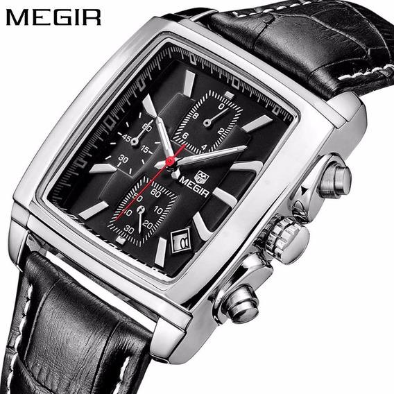 Relógio Megir 2028 Retrô Elegante Cronógrafo Pronta Entrega