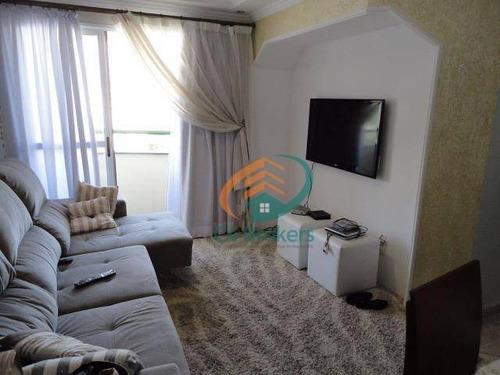 Apartamento Com 2 Dormitórios À Venda, 64 M² Por R$ 280.000,00 - Vila Augusta - Guarulhos/sp - Ap1514