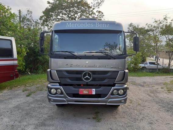Mercedes-benz Atego 2426 Basculante Ano 2013 Com Ar