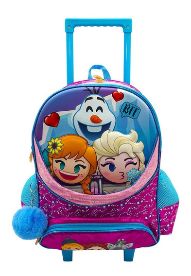 Mochila Con Carro Disney Emoji Frozen Original