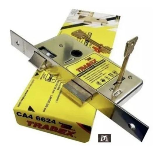 Cerradura De Seguridad Trabex 6624 Pasador Rectangular