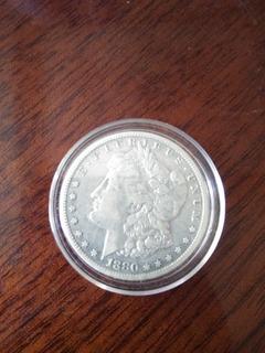 Un Dolar Morgan De Plata Año 1880 -81