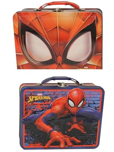 Spiderman Estuche De Metal Valija Lonchera 19x15cms Original