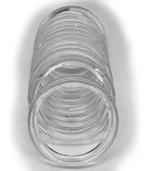 Argollas Acrílicas Nº5 Transparente X 36 Unidades.