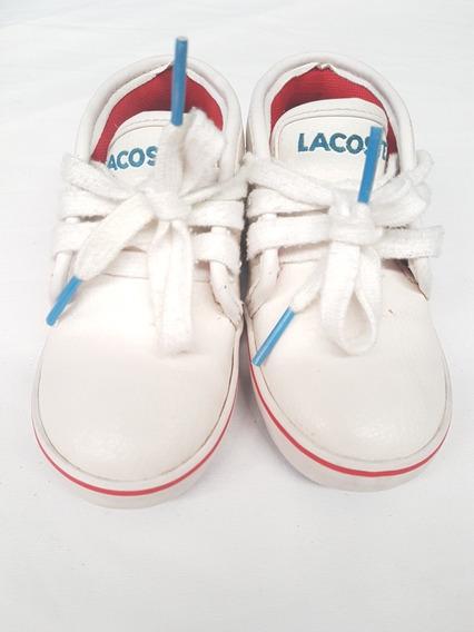 Tenis Blancos Lacoste Niños Unisex * La Segunda Bazar
