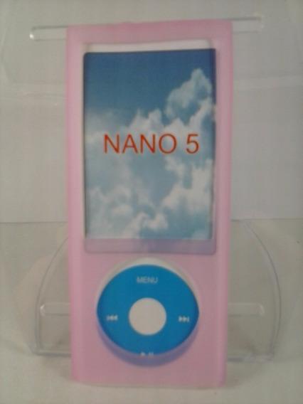 Capa Silicone Rosa Nano 5 5º Geração Apple iPod