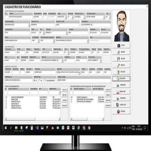 Cadastro De Funcionários Em Excel Vba