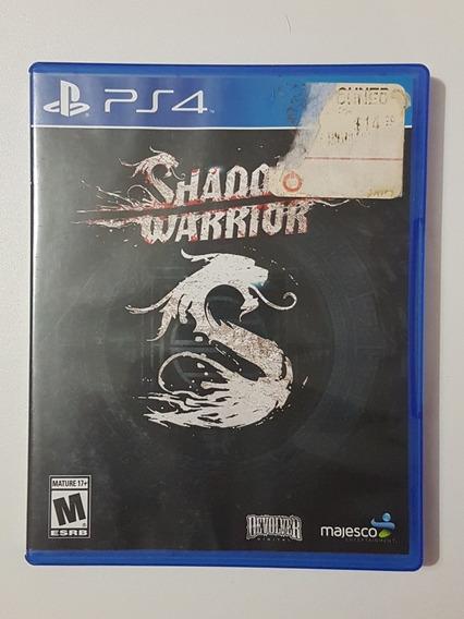 Capa Shadow Warrior Original Para Playstation 4