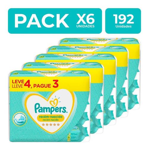 Pampers Toallitas Húmedas Recién Nacido 192 Unidades Pack X6