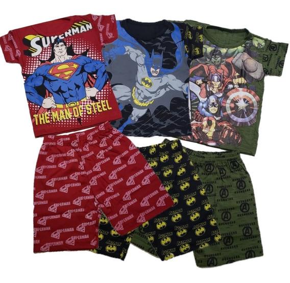 Roupa Infantil Kit Com 5 Conjuntos Meninos Desenhos