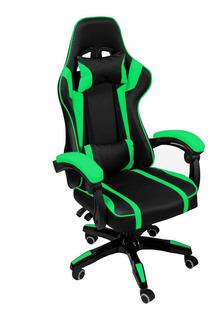 Silla Gamer Verde Gaming Pc Consola Ergonomica Reclinable