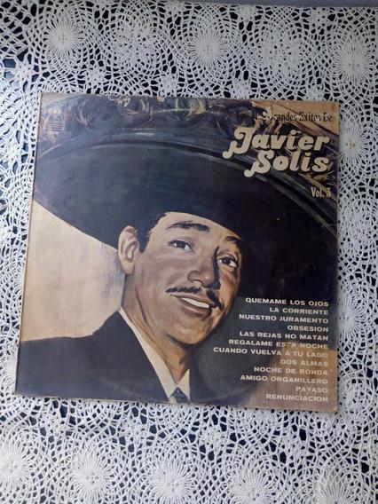 Los Grandes Éxitos De Javier Solis Vol. 3 (disco De Vinilo)