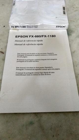 Manuais Epson Fx-880/fx-1180 Usuário E Referencia Rápida