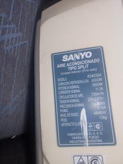 Aire Sanyo Frio Solo 6000w (5300f Aprox)