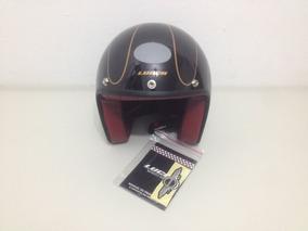 Capacete Aberto Lucca Of605 Glossy Black Golden 58 + Viseira