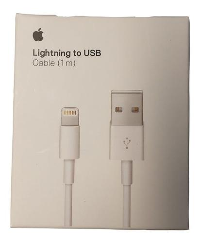 Imagen 1 de 5 de Cable Usb Lightning Original Apple iPhone 1 Mts A1856