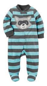 Pijama Fleece Carters Macacão Soft Menino Rn, 3, 6, 9 Meses
