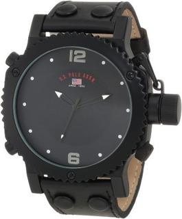 U.s. Polo Assn. Reloj Analogo Negro De Los Hombres Clasicos