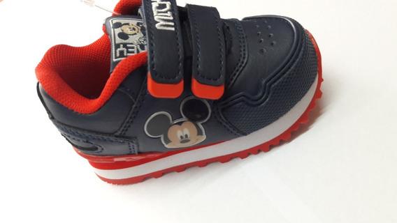 Zapatillas Addnice Classic Running Mickey 19 Azul Envío País