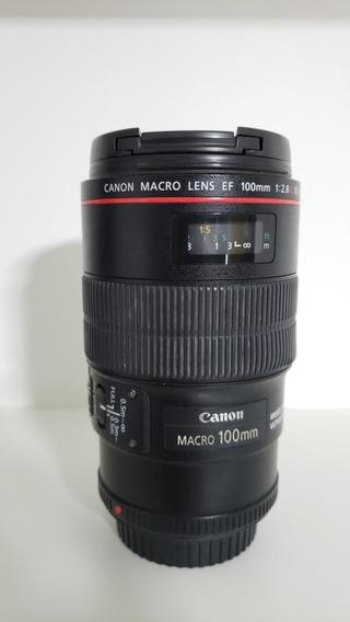 Lente Canon 100mm 2.8l Macro