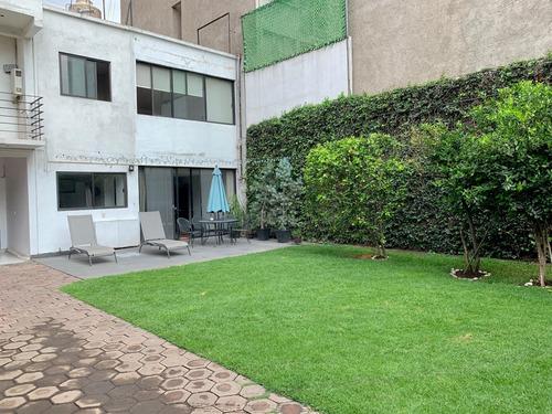 Imagen 1 de 25 de Casa En Venta Con Jardin Y 5 Cajones En Narvarte Poniente