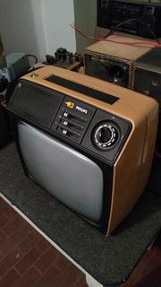 Televisor Blanco Y Negro Philips Colección