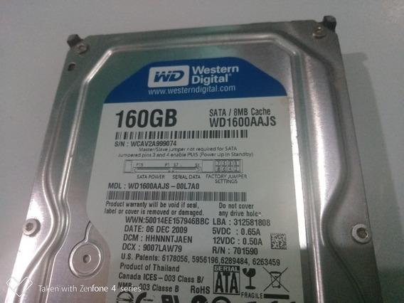 Hd Sata 160gb Wd1600 Aajs Desktop (3.5
