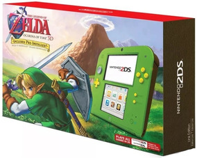 Nintendo 2ds Zelda Edition 3ds Wifi Ar Cards + Jogo + Nfe