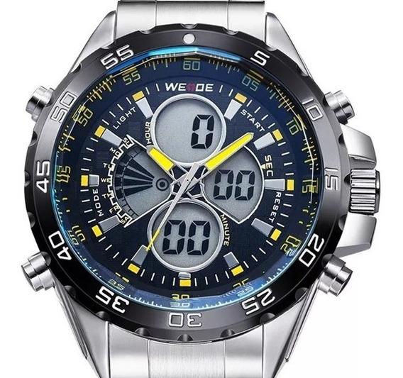 Relógio Masculino Elegance - Weide Prata