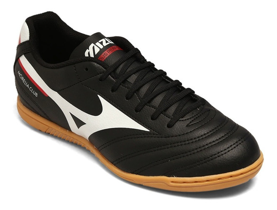 Tênis Mizuno Morelia Club In Preto/branco/vermelho 9435